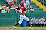 4 July 2012: Vermont Lake Monsters infielder Chad Lewis in action against the Hudson Valley Renegades at Centennial Field in Burlington, Vermont. The Lake Monsters edged out the Renegades the Cyclones 2-1 in NY Penn League action. Mandatory Credit: Ed Wolfstein Photo