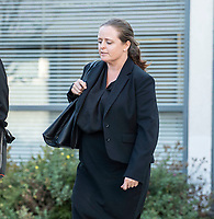 BNPS.co.uk (01202 558833)<br /> Pic: PhilYeomans/BNPS<br /> <br /> Amanda Marshall leaving Poole Magistrates court.<br /> <br /> A man who kicked in his neighbour's garden fence after returning to find fallen tree branches had been thrown onto his lawn has been convicted of criminal damage.<br /> <br /> Robert Marshall saw red when he found Kate Vovro, a cross-dresser whose legal name is Paul Hockey, had cut back trees that overhung into her back garden and dropped the debris back onto his property.<br /> <br /> CCTV footage showed Marshall shouting 'come and see, I've got something for you' while repeatedly kicking the timber fence that borders their £400,000 detached homes in Verwood, Dorset.<br /> <br /> The footage also showed Marshall and his wife Amanda throwing the tree branches back into Ms Vovro's swimming pool.