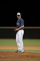 AZL Padres 2 relief pitcher Mason Fox (20) prepares to deliver a pitch during an Arizona League game against the AZL Padres 1 at Peoria Sports Complex on July 14, 2018 in Peoria, Arizona. The AZL Padres 1 defeated the AZL Padres 2 4-0. (Zachary Lucy/Four Seam Images)