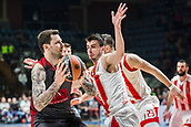 9th February 2018, Aleksandar Nikolic Hall, Belgrade, Serbia; Euroleague Basketball, Crvenz Zvezda mts Belgrade versus AX Armani Exchange Olimpia Milan; Forward Vladimir Micov of AX Armani Exchange Olimpia Milan in action against Forward Nemanja Dangubic of Crvena Zvezda mts Belgrade