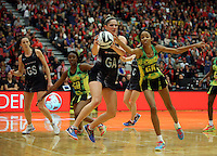 16.09.2016 Silver Ferns Te Paea Selby-Rickit and Jamacia's Shamera Sterling in action during traning ahead of the last Taini Jamison netball match between the Silver Ferns and Jamaica to be played in Rotorua. Mandatory Photo Credit ©Michael Bradley.