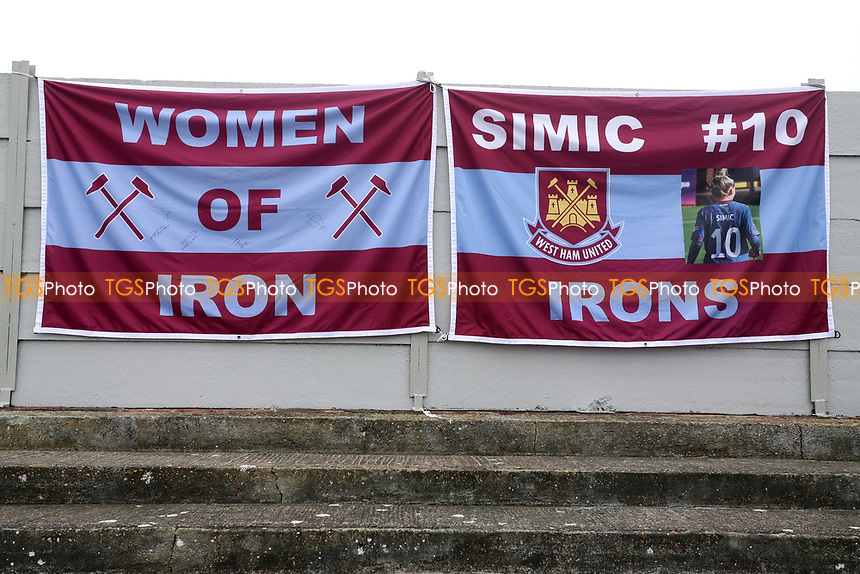 West Ham flags during West Ham United Women vs Arsenal Women, FA Women's Super League Football at Rush Green Stadium on 6th January 2019