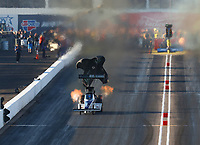 Feb 23, 2019; Chandler, AZ, USA; NHRA top fuel driver Jim Maroney during qualifying for the Arizona Nationals at Wild Horse Pass Motorsports Park. Mandatory Credit: Mark J. Rebilas-USA TODAY Sports