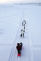 Sunday March 11, 2012  Sigrid Ekran on the slough shorlty after leaving Unalakleet.   Iditarod 2012.