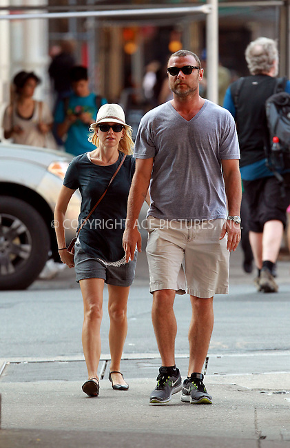 WWW.ACEPIXS.COM . . . . .  ....April 16 2012, New York City....Actors Naomi Watts and Liev Schreiber walk in their Manhattan neighborhood on April 16 2012 in New York City....Please byline: John Peters - ACE PICTURES.... *** ***..Ace Pictures, Inc:  ..Philip Vaughan (212) 243-8787 or (646) 769 0430..e-mail: info@acepixs.com..web: http://www.acepixs.com