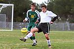 Palos Verdes, CA 02/07/12 - Rafi Cutri (Peninsula #20) in action during the Mira Costa vs Peninsula Boys Varsity soccer bay league game.