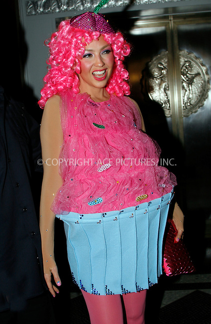 WWW.ACEPIXS.COM . . . . .  ....October 29 2010, New York City....Music producer Tommy Mottola and his wife singer Thalia arrive in costume at Bette Midler's annual Hulaween Party on October 29 2010 in New York City....Please byline: NANCY RIVERA- ACEPIXS.COM.... *** ***..Ace Pictures, Inc:  ..Tel: 646 769 0430..e-mail: info@acepixs.com..web: http://www.acepixs.com