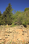 Golan Heights, remains of temples that were built in Caesarea Philippi during the Hellenistic and Roman periods
