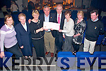 "CD Launch: Louis O'Carroll, fourth from right, presenting  a cheque for EUR5000.00 to Kay Hanley of the Listowel Hospice, the proceeds of the sale of the CD"" River to Sea"" by Louis O,Carroll which was launched in St. John's Arts Centre in Listowel on Saturday night last. L-R: Jenny Tarrant, Sr. Margaret, Kay Hanley, Louis O'Carroll, Minister for Arts, Heritage & The Gaeltach, Jimmy Deenihan, TD, Mary O'Connor, Helen Duggan & Dr. Billy O'Connor"