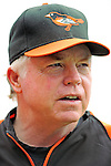19 June 2011: Baltimore Orioles' Manager Buck Showalter watches batting practice prior to a game against the Washington Nationals at Nationals Park in Washington, District of Columbia. The Orioles defeated the Nationals 7-4 in inter-league play, ending Washington's 8-game winning streak. Mandatory Credit: Ed Wolfstein Photo