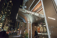 Tiffany & Co. jewelers on Fifth Avenue in Midtown Manhattan in New York on Tuesday, December 13, 2016. (© Richard B. Levine)