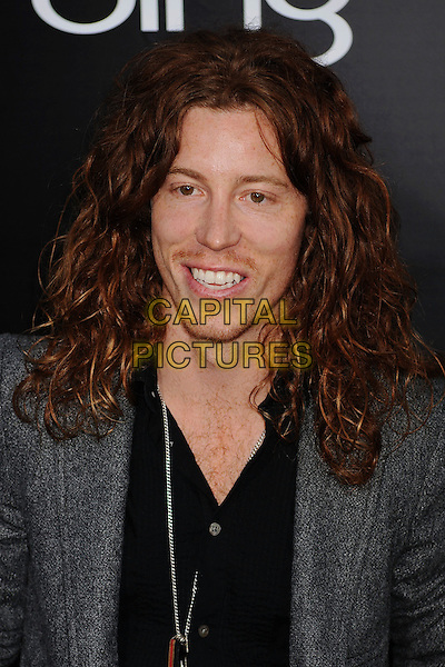 "SHAUN WHITE.""The Hangover Part II"" Los Angeles Premiere held at Grauman's Chinese Theatre, Hollywood, California, USA, 19th May 2011..2 headshot portrait black shirt smiling stubble jacket facial hair grey gray .CAP/ROT/TM.©Tony Michaels/Roth Stock/Capital Pictures"