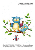 Marcello, CUTE ANIMALS, LUSTIGE TIERE, ANIMALITOS DIVERTIDOS, paintings+++++,ITMCEDH1329,#AC#, EVERYDAY ,owls