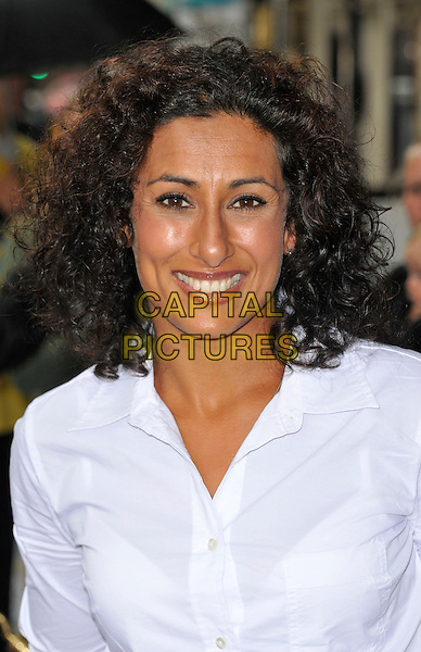 Saira Khan.The 'Nickelodeon's Dora the Explorer LIVE! Search for the City of Lost Toys' press performance, Apollo Theatre, Shaftesbury Avenue, London, England..August 29th, 2012.headshot portrait shirt white  .CAP/WIZ.© Wizard/Capital Pictures.