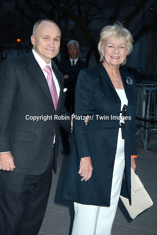 Ray Kelly and wife Veronica Kelly arrive at the Vanity Fair Party for the 2014 Tribeca Film Festival on April 23, 2014 at the State Supreme Courthouse in New York, NY, USA