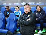 Leicester's Craig Shakespeare looks on during the Champions League Quarter-Final 2nd leg match at the King Power Stadium, Leicester. Picture date: April 18th, 2017. Pic credit should read: David Klein/Sportimage