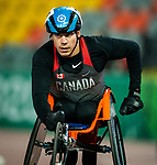 Lima, Peru -  27/August/2019 -  Benjamin Brown competes in the men's 100m T38 at the Parapan Am Games in Lima, Peru. Photo: Dave Holland/Canadian Paralympic Committee.