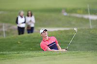 Callum Shinkwin (ENG) plays out of a bunker onto the 10th green during Round 3 of the Open de Espana 2018 at Centro Nacional de Golf on Saturday 14th April 2018.<br /> Picture:  Thos Caffrey / www.golffile.ie<br /> <br /> All photo usage must carry mandatory copyright credit (&copy; Golffile | Thos Caffrey)