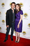 HOLLYWOOD, CA. - August 16: Michael Medico and Actress Emily Deschanel arrive at the third annual Hot in Hollywood held at Avalon on August 16, 2008 in Hollywood, California.