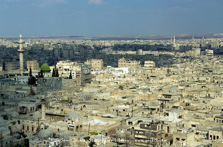 Cityscape in Aleppo, Syria.