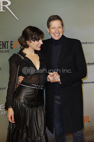 Milla Jovovich and Paul W. S. Anderson attending the &quot;Resident Evil: The Final Chapter&quot; premiere held at CineStar, Sony Center, Potsdamer Platz, Berlin, Germany, 19.01.2017. <br /> Photo by Christopher Tamcke/insight media /MediaPunch ***FOR USA ONLY***