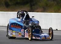 Mar 14, 2015; Gainesville, FL, USA; NHRA competition eliminator Frank Aragona Jr during qualifying for the Gatornationals at Auto Plus Raceway at Gainesville. Mandatory Credit: Mark J. Rebilas-