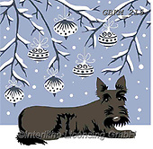 Kate, CHRISTMAS ANIMALS, WEIHNACHTEN TIERE, NAVIDAD ANIMALES, paintings+++++Christmas page 80,GBKM215,#xa# ,dog,dogs