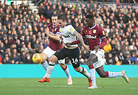 Derby County's Jack Marriott battles with  Aston Villa's Axel Tuanzebe<br /> <br /> Photographer Mick Walker/CameraSport<br /> <br /> The EFL Sky Bet Championship - Derby County v Aston Villa - Saturday 10th November 2018 - Pride Park - Derby<br /> <br /> World Copyright &copy; 2018 CameraSport. All rights reserved. 43 Linden Ave. Countesthorpe. Leicester. England. LE8 5PG - Tel: +44 (0) 116 277 4147 - admin@camerasport.com - www.camerasport.com