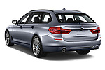 Car pictures of rear three quarter view of 2018 BMW 5 Series Touring Sport 5 Door Wagon angular rear