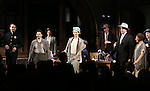 """The cast during the Broadway Opening Night performance curtain call bows for """"The Front Page""""  at the Broadhurst Theatre on October 20, 2016 in New York City."""