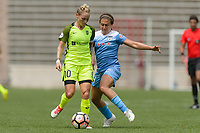 Bridgeview, IL - Sunday June 04, 2017: Jess Fishlock, Danielle Colaprico during a regular season National Women's Soccer League (NWSL) match between the Chicago Red Stars and the Seattle Reign FC at Toyota Park.