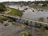 Tim's Bridge, Wellfleet, Cape Cod, MA aerial