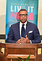 MIAMI, FLORIDA - JANUARY 29: Senior Vice President of Player Engagement, NFL Arthur McAfee attends the 21st Annual Super Bowl Gospel Celebration Press Conference at James L Knight Center on January 29, 2020 in Miami, Florida.  ( Photo by Johnny Louis / jlnphotography.com )
