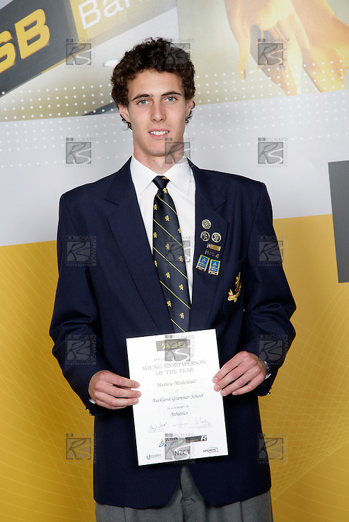 Athletics Winner - Mathew Mildenhall. ASB College Sport Young Sportsperson of the Year Awards 2006, held at Eden Park on Thursday 16th of November 2006.<br />