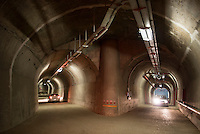 TURKEY, Mengen, Köprübaşı HEPP, hydro power station of Yueksel Holding / TUERKEI, Mengen, Köprübaşı HEPP, Wasserkraftwerk der Yueksel Holdung, unterirdische Zufahrt zum Turbinenhaus