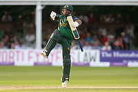 Samit Patel of Notts celebrates scoring a century, 100 runs during Essex Eagles vs Notts Outlaws, Royal London One-Day Cup Semi-Final Cricket at The Cloudfm County Ground on 16th June 2017