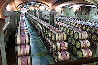 barrel cellar chateau margaux medoc bordeaux france