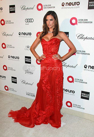 WEST HOLLYWOOD, CA - FEBRUARY 22: Alessandra Ambrosio at the 2015 Elton John AIDS Foundation Oscar Party in West Hollywood, California on February 22, 2015. Credit: David Edwards/DailyCeleb/MediaPunch