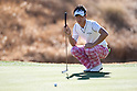 Ryo Ishikawa (JPN),.JANUARY 19, 2013 - Golf :.Ryo Ishikawa of Japan lines up his putt during the third round of the Humana Challenge at the Jack Nicklaus Private Course at PGA West in La Quinta, California, United States. (Photo by Thomas Anderson/AFLO) (JAPANESE NEWSPAPER OUT)