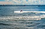 Skuter wodny przy plaży w Gdyni.