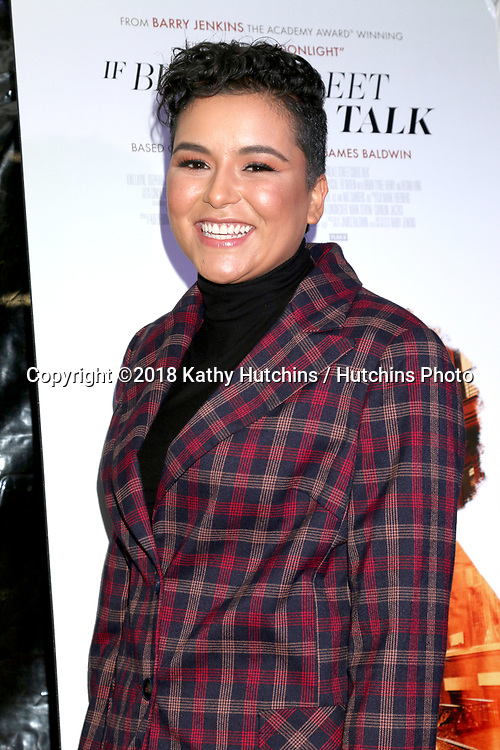 "LOS ANGELES - DEC 4:  Emily Rios at the ""If Beale Street Could Talk"" Screening at the ArcLight Hollywood on December 4, 2018 in Los Angeles, CA"