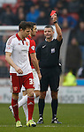 Sam Ricketts of Coventry City receives a red card - English League One - Sheffield Utd vs Coventry City - Bramall Lane Stadium - Sheffield - England - 13th December 2015 - Pic Simon Bellis/Sportimage-