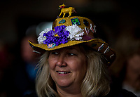 LOUISVILLE, KENTUCKY - MAY 04: A fan wears her best hat during Thurby at Churchill Downs on May 4, 2017 in Louisville, Kentucky. (Photo by Scott Serio/Eclipse Sportswire/Getty Images)