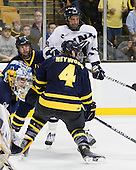 Karl Stollery (Merrimack - 7), Phil DeSimone (UNH - 39), Jordan Heywood (Merrimack - 4) - The Merrimack College Warriors defeated the University of New Hampshire Wildcats 4-1 (EN) in their Hockey East Semi-Final on Friday, March 18, 2011, at TD Garden in Boston, Massachusetts.