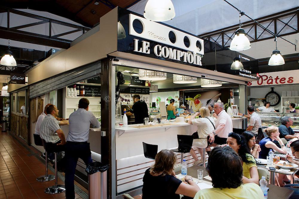 Café 'Le Comptoir' situated in Le Nouveau Marché de la Condamine, Monaco, 5 July 2013
