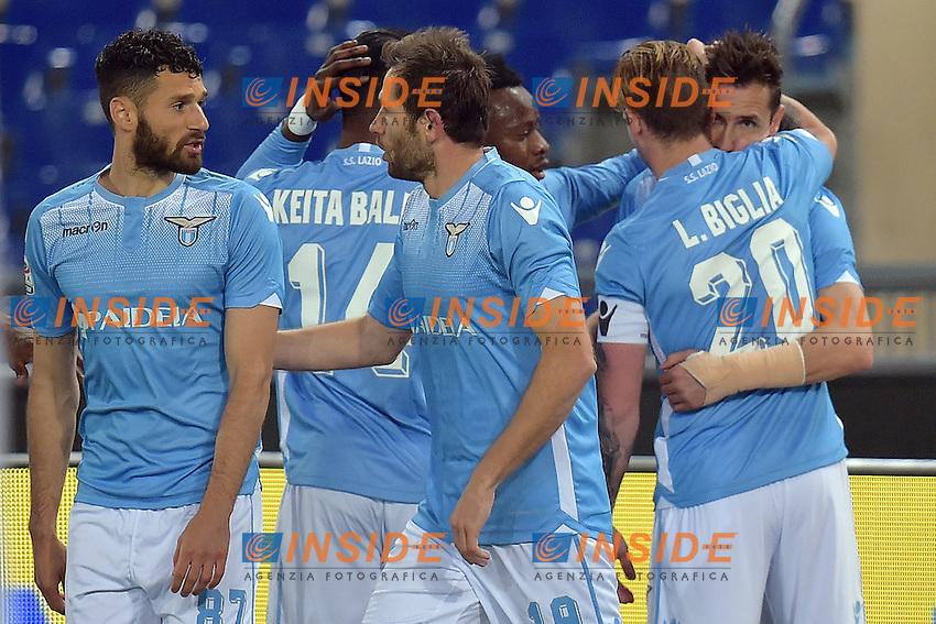 Esultanza Gol Miroslav Klose Lazio 1-0 Goal celebration <br /> Roma 01-05-2016 Stadio Olimpico Football Calcio Serie A 2015/2016 Lazio - Inter Foto Andrea Staccioli / Insidefoto