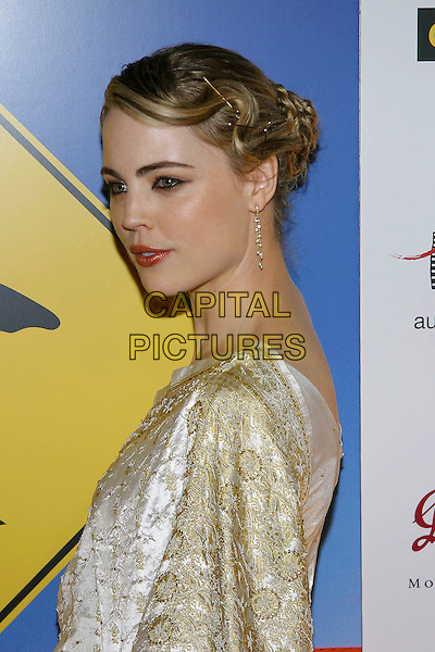 MELISSA GEORGE.G'Day LA Penfolds Black Tie Gala at the Century Plaza Hotel, Century City, California..Photo credit: Jacqui Wong/AdMedia.January 13th, 2004.headshot, portrait, kirby grip, bobby pin.www.capitalpictures.com.sales@capitalpictures.com.© Capital Pictures.