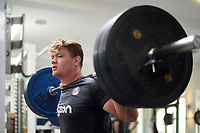 Nick Auterac of Bath Rugby in the gym. Bath Rugby pre-season training on June 22, 2017 at Farleigh House in Bath, England. Photo by: Patrick Khachfe / Onside Images