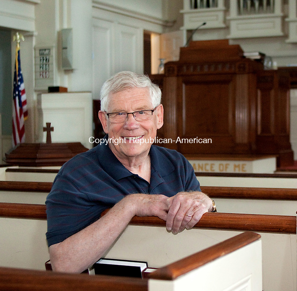 MIDDLEBURY, CT- JUNE 20 2011-062012DA02- Pastor Dave Buchan is the new interim pastor of The Middlebury Congregational Church..Darlene Douty Republican American