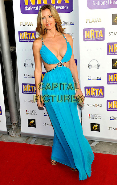 Caprice Bourret .The National Reality TV Awards 2011 at Proud 2, The O2 Arena, London, England..July 6th 2011.full length blue turquoise maxi dress cleavage cut out sides .CAP/ROS.©Steve Ross/Capital Pictures